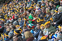 Photo: Ian Smith/Richard Lane Photography. Wasps v Bath Rugby. Aviva Premiership. 24/12/2016. Wasps' fans enjoy the atmosphere during the match.