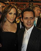 MIAMI - SEPTEMBER 21: Gloria Estefan, Emilio Estefan, Jennifer Lopez and Marc Anthony arrives at orange carpet for Dolphins game at Landshark Stadium on September 21, 2009 in Miami, Florida.<br /> <br /> <br /> People:  Jennifer Lopez and Marc Anthony