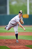 Kane County Cougars relief pitcher Cameron Gann (15) delivers a pitch during the first game of a doubleheader against the Cedar Rapids Kernels on May 10, 2016 at Perfect Game Field in Cedar Rapids, Iowa.  Kane County defeated Cedar Rapids 2-0.  (Mike Janes/Four Seam Images)