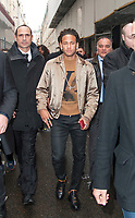 Footballer Neymar at The Louis Vuitton Show at the Paris Fashion Week Spring Summer 2018 in Paris, France, January 18 2018. # LES PEOPLE ARRIVENT AU DEFILE 'LOUIS VUITTON' LORS DE LA FASHION WEEK DE PARIS