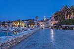 Croatia, Dalmatia, Hvar Old Town at Dawn