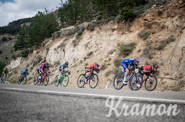 bombing the descent<br /> <br /> Stage 6: Mora de Rubielos to Ares del Maestrat (199km)<br /> La Vuelta 2019<br /> <br /> ©kramon