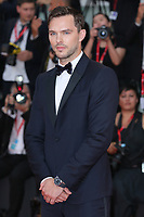 "VENICE, ITALY - AUGUST 28: Nicholas Hoult walks the red carpet ahead of the Opening Ceremony and the ""La Verite"" (The Truth) screening during the 76th Venice Film Festival at Sala Grande on August 28, 2019 in Venice, Italy., 2019 in Venice, Italy. (Photo by Marck Cape/Inside Foto)<br /> Venezia 28/08/2019"