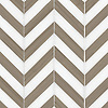 Maharaja Stripe 2, a waterjet stone mosaic shown in polished Driftwood and honed Thassos, is part of the Silk Road® collection by New Ravenna.
