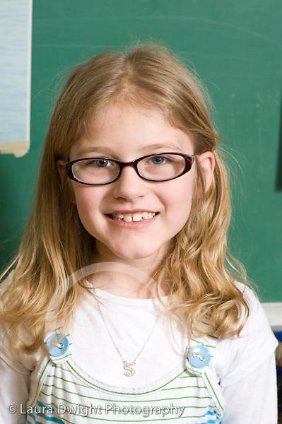 Elementary School New York Grade 2 closeup portrait of girl vertical