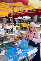 Europe/France/Provence-Alpes-Côte d'Azur/Alpes-Maritimes/Nice: Marché au poisson   //   Europe, France, Provence-Alpes-Côte d'Azur, Alpes-Maritimes, Nice:  the Fish Market