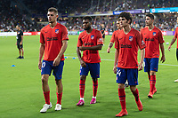 Orlando, FL - Wednesday July 31, 2019:  Fracisco Montero #30, Sergio Camello #34, Thomas Lemar #11 prior to an Major League Soccer (MLS) All-Star match between the MLS All-Stars and Atletico Madrid at Exploria Stadium.