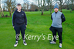 Jake Shine and John O'Connor enjoying a stroll in the Listowel town park on New Years Eve.