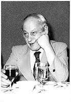Rene Levesque ,avec un verre de vin rouge , le 28 mai 1978<br /> <br /> PHOTO : JJ Raudsepp  - Agence Quebec presse