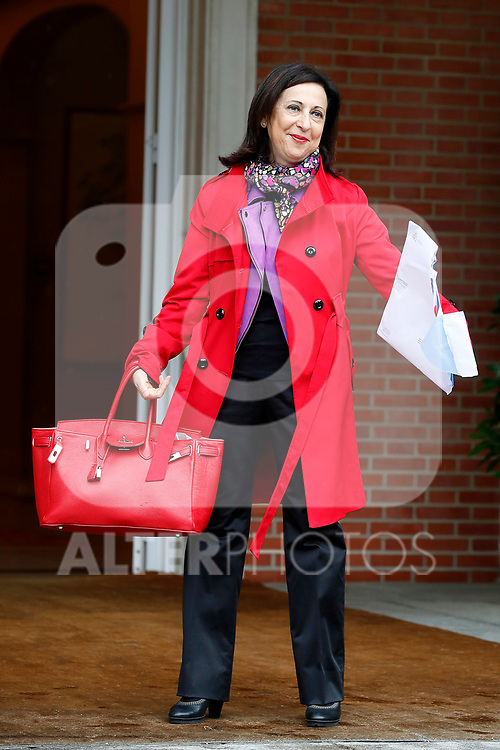 Margarita Robles, Minister of Defense, arrives at the first Council of Ministers of the new Government of Spain, chaired by Pedro Sanchez. June 8,2018. (ALTERPHOTOS/Acero)