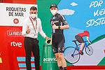 Michael Storer (AUS) Team DSM wins Stage 10 of La Vuelta d'Espana 2021, running 189km from Roquetas de Mar to Rincón de la Victoria, Spain. 24th August 2021.     <br /> Picture: Luis Angel Gomez/Photogomezsport   Cyclefile<br /> <br /> All photos usage must carry mandatory copyright credit (© Cyclefile   Luis Angel Gomez/Photogomezsport)