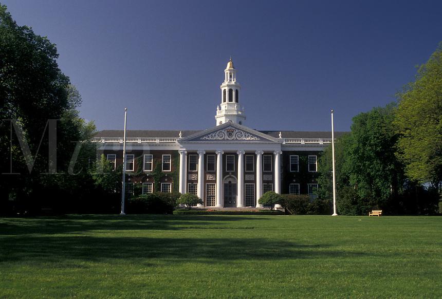 AJ4453, university, college, Harvard, Cambridge, Massachusetts, Baker Library on the Harvard University Graduate School of Business Graduation in Cambridge in the state of Massachusetts.