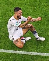 2nd July 2021; Allianz Arena, Munich, Germany; European Football Championships, Euro 2020 quarterfinals, Belgium versus Italy;   Italian forward Lorenzo Insigne   celebrating after scoring a goal for 2-0