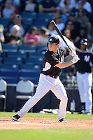 Infielder Corban Joseph (72) of the New York Yankees during a spring training game against the Philadelphia Phillies on March 1, 2014 at Steinbrenner Field in Tampa, Florida.  New York defeated Philadelphia 4-0.  (Mike Janes/Four Seam Images)