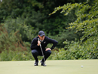 3rd July 2021; Mount Juliet Golf Club, Kilkenny, Ireland; Dubai Duty Free Irish Open Golf, Day Three; Rory Mcilroy of Northern Ireland lines up his putt on the putts on the 4th green
