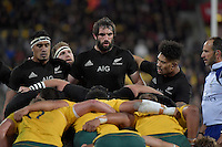 All Blacks' Samuel Whitelock in action during the All Blacks v Wallabies. The Rugby Championship & Bledisloe Cup at Westpac Stadium, Wellington, New Zealand on Saturday 27 August 2016.<br /> Photo by Masanori Udagawa. <br /> www.photowellington.photoshelter.com.
