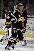 February 17th 2007:  Henrik Tallinder (10) of the Buffalo Sabres plays defense vs. the Boston Bruins at HSBC Arena in Buffalo, NY.  The Bruins defeated the Sabres 4-3 in a shootout.