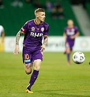 23rd May 2021; HBF Park, Perth, Western Australia, Australia; A League Football, Perth Glory versus Macarthur; Andy Keogh of Perth Glory makes an attacking break on the ball