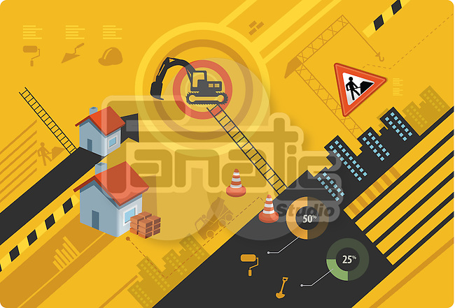 Illustrative image of real estate construction