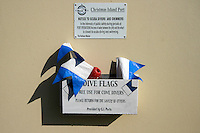 Dive Flags for Loan at Flying Fish Cove on Christmas Island, Indian Ocean