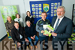 "Picture at the launch of ""How to age well"" on Tuesday last were front l-r: Peter Keane (Kerry team manager), Eoin Liston, Tim Murphy (Kerry County Board chairman) and Jimmy Mulligan (St. Pat's Blennerville). Back l-r: Bernie Reen (Kerry County Board Children's Officer), Áine Ní Shúilleabháin (Secretary of Kerry health and wellbeing committee) and Leona Twiss (PRO Kerry County Board)."
