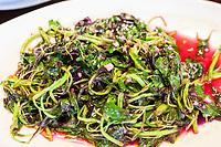 Nanjing, Jiangsu, China.  Mixed Green Salad with Amaranth.