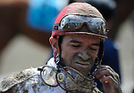 09 August 1: Jockey Cornelio Velasquez on Jim Dandy Stakes day at Saratoga Race Track in Saratoga Springs, New York.