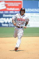 Richmond Flying Squirrels outfielder  Javier Herrera (10) during game against the New Britain Rock Cats at New Britain Stadium on May 30, 2013 in New Britain, CT.  New Britain defeated Richmond 2-1.  (Tomasso DeRosa/Four Seam Images)
