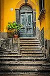 The Green door in town of Cetara, along the Amalfi Coast, Campania, Italy