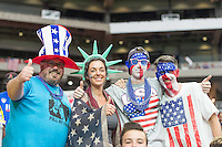 Glendale, AZ - Sunday Jan. 12, 2014: USA Fans prior to a Copa America Centenario third place match match between United States (USA) and Colombia (COL) at University of Phoenix Stadium.