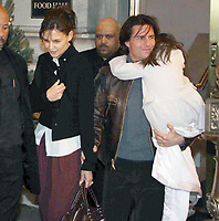 Tom Cruise Katie Holmes and daughter Suri 2010<br /> Photo By John Barrett/PHOTOlink