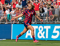 EAST HARTFORD, CT - JULY 5: Lindsey Horan #9 of the USWNT celebrates her goal during a game between Mexico and USWNT at Rentschler Field on July 5, 2021 in East Hartford, Connecticut.