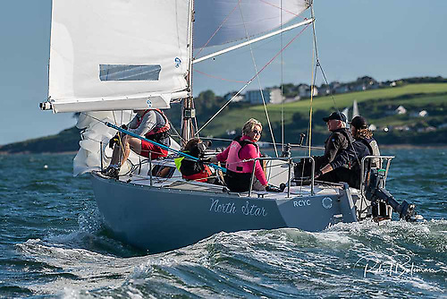 Steady as she goes…the Albin Express North Star runs straight and true towards overall success in the RCYC July League. Photo: Robert Bateman