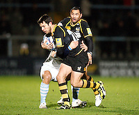Photo: Richard Lane/Richard Lane Photography. London Wasps v Bayonne. Amlin Challenge Cup. 15/12/2011. Wasps' Hugo Southwell attacks.