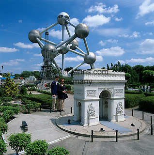 Belgium, Province Brabant, Brussels: Bruparck, Mini-Europe. Models of famous European landmarks   Belgien, Provinz Brabant, Bruessel: Mini-Europe im Bruparck mit Modellen beruehmter europaeischer Sehenswuerdigkeiten
