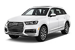 2017 Audi Q7 Premium  5 Door SUV angular front stock photos of front three quarter view