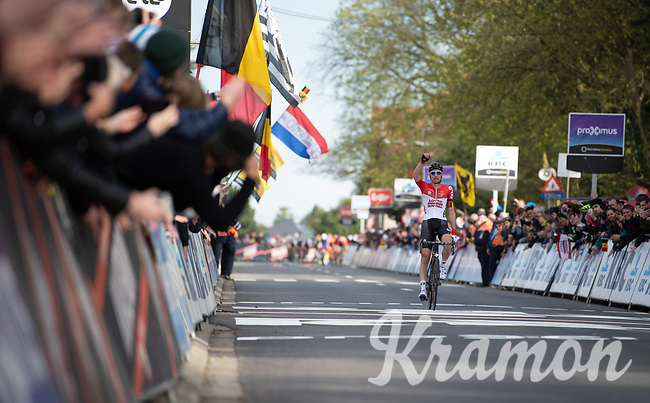 victory for Tim Wellens (BEL/Lotto-Soudal) at the 58th Brabantse Pijl 2018 (BEL)