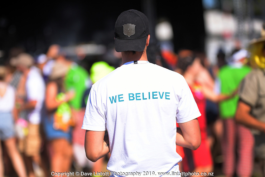 Fans in the entertainment zone. Day one of the 2020 HSBC World Sevens Series Hamilton at FMG Stadium in Hamilton, New Zealand on Saturday, 25 January 2020. Photo: Dave Lintott / lintottphoto.co.nz
