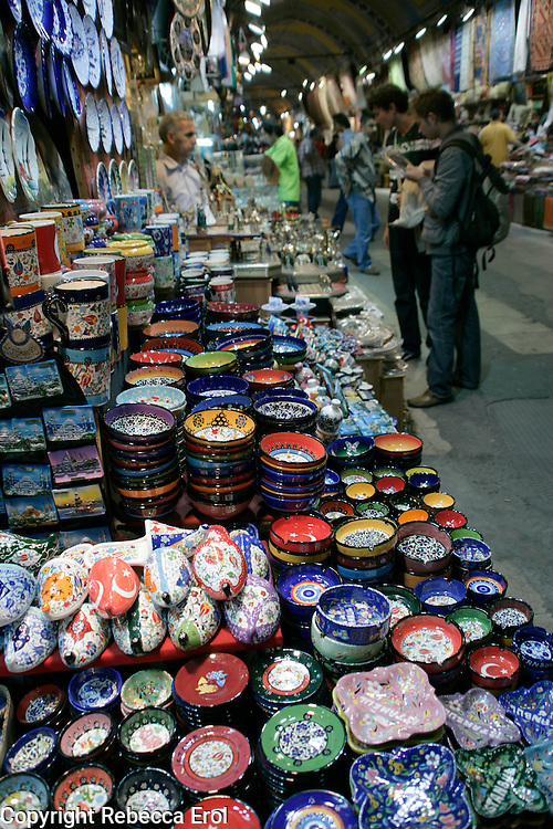 CERAMICS FOR SALE AT THE GRAND BAZAAR, ISTANBUL, TURKEY