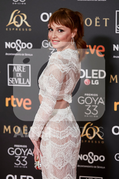 Cristina Castano attends to 33rd Goya Awards at Fibes - Conference and Exhibition  in Seville, Spain. February 02, 2019. (ALTERPHOTOS/A. Perez Meca)