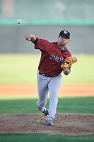 Idaho Falls Chukars starting pitcher Grant Gambrell (33) during a Pioneer League game against the Orem Owlz at The Home of the OWLZ on August 13, 2019 in Orem, Utah. Orem defeated Idaho Falls 3-1. (Zachary Lucy/Four Seam Images)