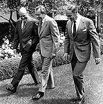 37th President of the United States Richard M. Nixon with Melvin Laird and Alex Haig, Richard Nixon was born in Yorba Linda California and attended Whittier College and Duke University law school, US Navy House of Representatives and United States Senate, Vice President under Dwight D. Eisenhower, Impeachment for his role in Watergate scandal,