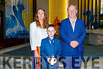 Tadgh Lawlor from Holy Family NS received his First Holy Communion with Ciara O'Keefe and Ed O'Brien (Principal) at St Brendans Church on Saturday.