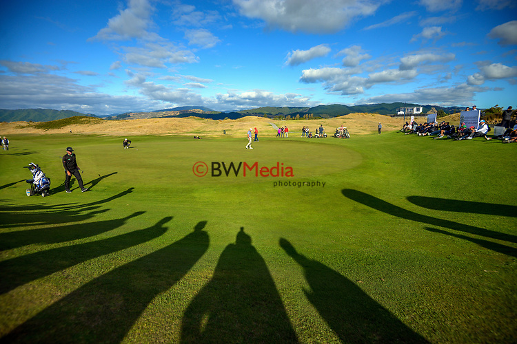 Josh Geary, Mark Brown and Mike Hendry complete the final round. Day four of the Renaissance Brewing NZ Stroke Play Championship at Paraparaumu Beach Golf Club in Paraparaumu, New Zealand on Sunday, 21 March 2021. Photo: Dave Lintott / lintottphoto.co.nz
