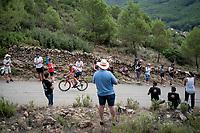 Tomasz Marczynski (POL/Lotto-Soudal) up the steepest part of the brutal Mas de la Costa: the final climb towards the finish<br /> <br /> Stage 7: Onda to Mas de la Costa (183km)<br /> La Vuelta 2019<br /> <br /> ©kramon