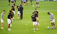 LOS ANGELES, CA - SEPTEMBER 13: Portland Timbers v LAFC starting elevens, BlackLivesMatter during a game between Portland Timbers and Los Angeles FC at Banc of California stadium on September 13, 2020 in Los Angeles, California.