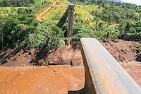 BRUMADINHO, MG, 01.02.2019: ROMPIMENTO DA BARRAGEM EM BRUMADINHO. Viaduto da linha ferrea no local do rompimento da barragem da Mineradora Vale, em Corrego do Feijao-Brumadinho, região metropolina de Belo Horizonte, MG, na manhã desta sexta feira (01) (foto Giazi Cavalcante/Codigo19)