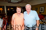 Irene and Johnny O'Donnell from Oakpark, Tralee celebrating their 52nd wedding anniversary in the Brogue Inn on Saturday.