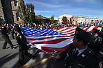 The Reno Huskies Battalion marches in the Nevada Day parade in Carson City, Nev. on Saturday, Oct. 27, 2012. .Photo by Cathleen Allison