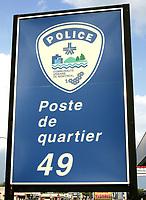Photo d'archive de la police au Quebec - Poste de Quartier 49<br /> <br /> <br /> PHOTO :  AGENCE QUEBEC PRESSE